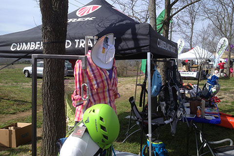Cumberland Transits booth at the Annual Outdoor Recreation Vendor Show