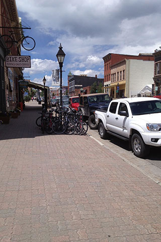 Looking down the streets of Leadville