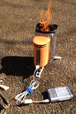 BioLite CampStove charging GoalZero Guide Plus