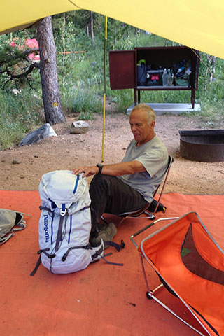 packing the Ascensionist at camp