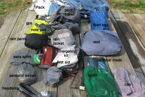 day pack equipment
