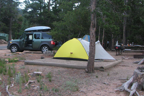 camping at site 1, Longs Peak