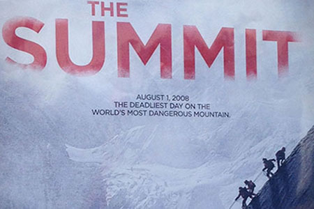 closeup of the Summit poster