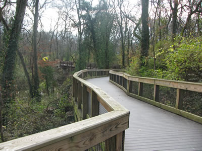 Bridge on a greenway