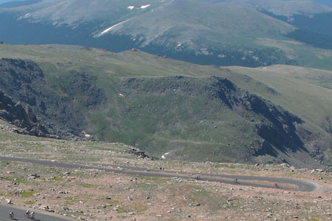 biking on Mount Evans