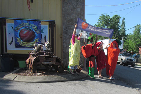 costumes at the Tomato Art Festival