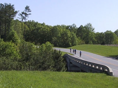 group ride at Natchez Trace