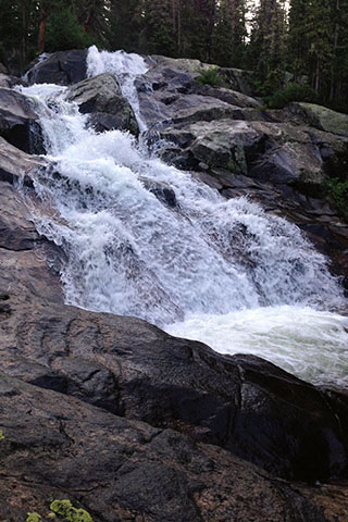 Water cascading down Granite Falls