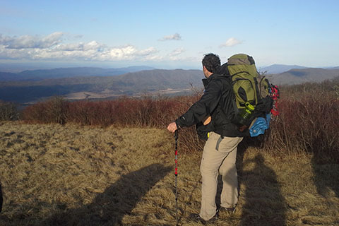 Summit of Gregory Bald looking out over Cades Cove