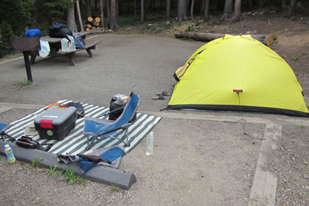 campsite at Guanella Pass Campground