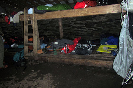 Inside the LeConte Shelter