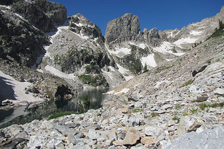 Lake of the Crags in Hanging Canyon