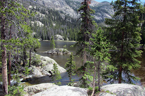 Lone Pine Lake in Rocky Mountain National Park