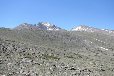 view of Longs Peak from the north