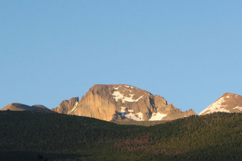 Longs Peak from Glacier Basin