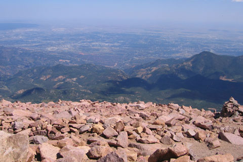 from near the summit of Pikes Peak