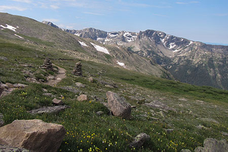 view into North Inlet and Ptarmigan Mountain