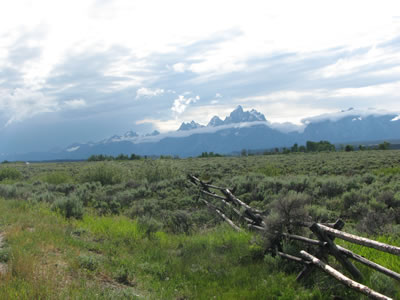 stormy weather over the tetons