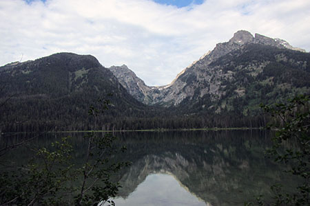 view of Avalanche Canyon from Taggart Lake