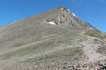 Torreys Peak from the saddle
