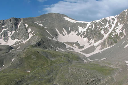 Grays peak from Kelso Mountain