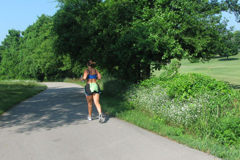 female runner on the greenway