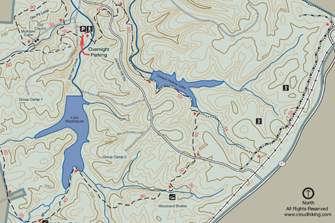 montgomery bell trail map