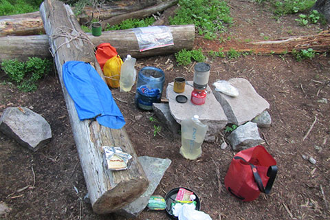 A backcountry kitchen