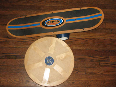 bongo board and wobble board