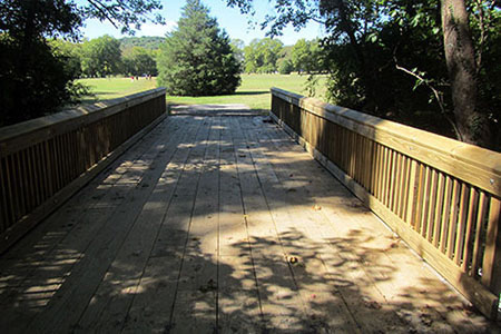 Vuaghn Creek Cross Coutry Trail bridge