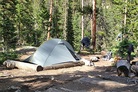 camp in Rocky Mountain National Park