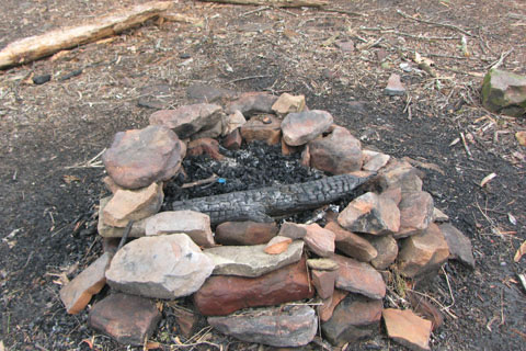 campfire made from structural stones