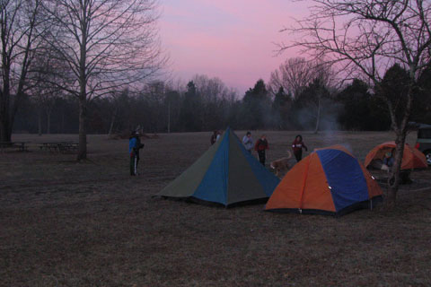 morning of the campout