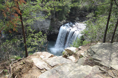 Cane Creek Falls overlook