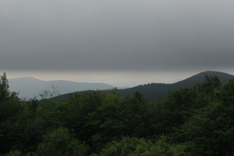Weather moving into the area mountains