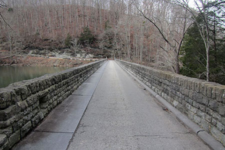 Hwy 136 crossing the dam