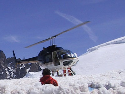 Helicopter on Mount Ranier
