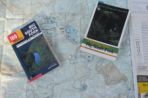 map and guide books to Big South Fork