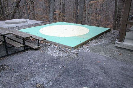 Marble rink and seating