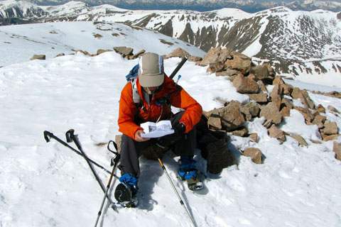 Checking notes on Mount Bross